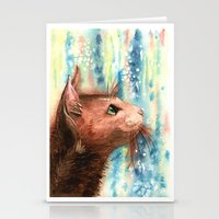 Brown Kitty Stationery Cards