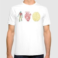 Zombie loves brains Mens Fitted Tee White SMALL