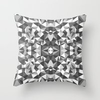 Abstract Colide Black An… Throw Pillow