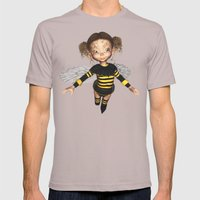 Little Bee Girl Golden Clouds Mens Fitted Tee Cinder SMALL