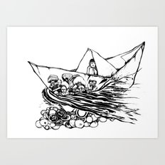 Refugees Art Print