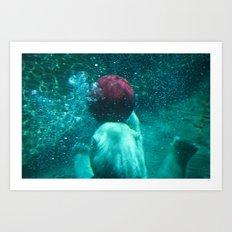 red ball bear Art Print