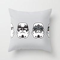 Stormkisstrooper Throw Pillow