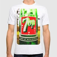 Classic 7 Up Bottle Mens Fitted Tee Ash Grey SMALL