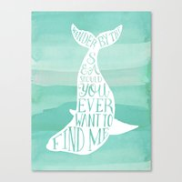 Wander By The Sea Should You Ever Want To Find Me Art Print Canvas Print