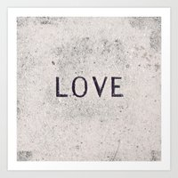 Love Stone Photography - Love Carved in Stone - Zen Meditation Art Art Print