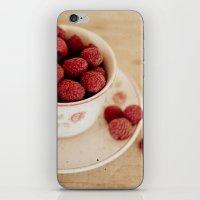 A Cup Of Raspberries iPhone & iPod Skin