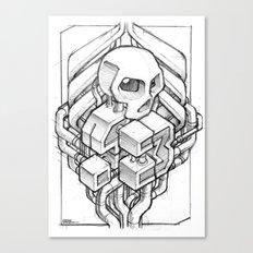 Isometric 13 Skull sketch Canvas Print