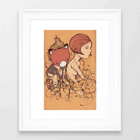 Leaves falling Framed Art Print