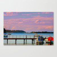 Twilight over the Bay Canvas Print