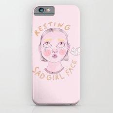 Resting Sad Girl Face Slim Case iPhone 6s