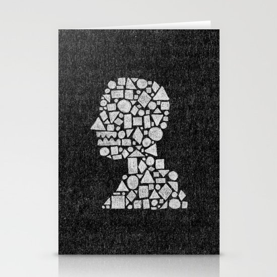 Untitled Silhouette in Reverse. Stationery Card