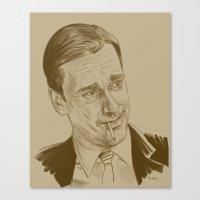 Don Draper (TV character played by Jon Hamm) Canvas Print