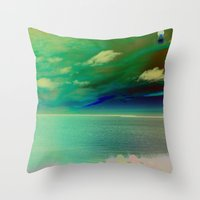 Sunset on the Sound - Outerbanks, North Carolina Throw Pillow