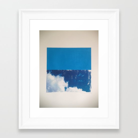 SKY/BLU Framed Art Print