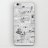 A recipe for gingerbread. iPhone & iPod Skin