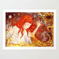Dragonlady Art Print