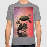 Steampunk Mens Fitted Tee Tri-Grey SMALL