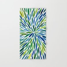 Watercolor Burst – Blue & Green Hand & Bath Towel