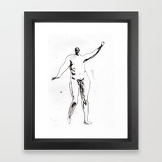 Victorian nude male Framed Art Print