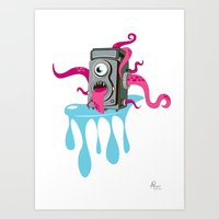 Monster Camera Art Print