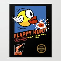 Flappy Hunt Canvas Print