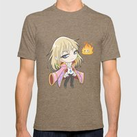 Chibi Howl Mens Fitted Tee Tri-Coffee SMALL