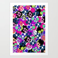 Overlayed blooms Art Print