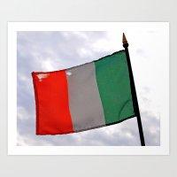 Irish Tricolor Art Print