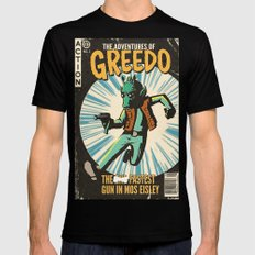 Greedo Vintage Comic Cover Black SMALL Mens Fitted Tee