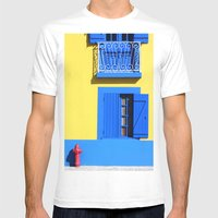 Cais Dos Botirões Mens Fitted Tee White SMALL