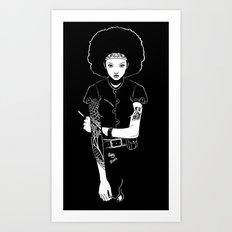 Lit Match Art Print