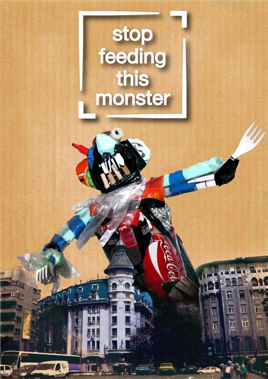 garbage monster Art Print