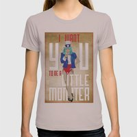 For The Monsters Womens Fitted Tee Cinder SMALL