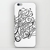 Live for Your Hopes iPhone & iPod Skin