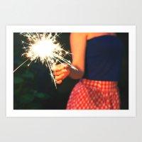 Summer Sparkler Art Print