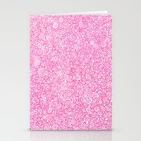Pink Swirly Doodle Stationery Cards