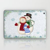 Snowman And Family Glitt… Laptop & iPad Skin