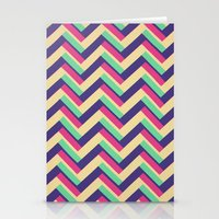 3-D Chevron Stationery Cards