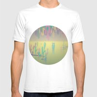 One More World Mens Fitted Tee White SMALL