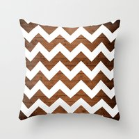 Chevron Wood Throw Pillow
