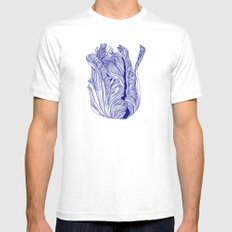 Dark tulip Mens Fitted Tee White SMALL