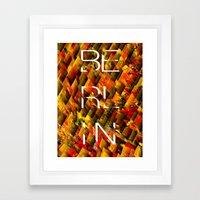 CAMO BERLIN Framed Art Print