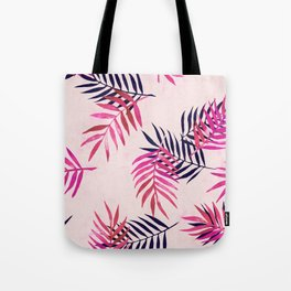 Tote Bag - Pink Palm Pattern - micklyn