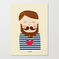 Bearded Sailor Lover Canvas Print
