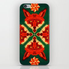 Fox Cross geometric pattern iPhone & iPod Skin
