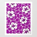 Painted Floral Magenta Art Print