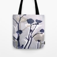 abstract florals  ~ color option deep blue Tote Bag