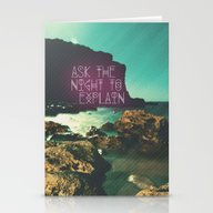 Ask The Night To Explain Stationery Cards