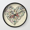 I Love Brompton Bikes Wall Clock